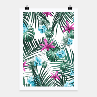 Tropical Flowers & Leaves Paradise #3 #tropical #decor #art Plakat Bild der Miniatur