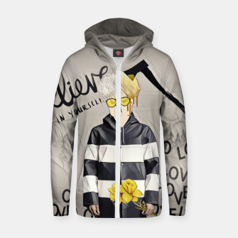 Thumbnail image of Love Cotton zip up hoodie, Live Heroes