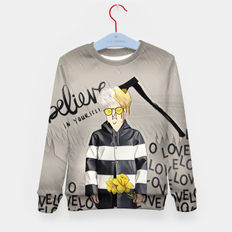 Thumbnail image of Love Kid's sweater, Live Heroes