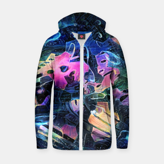 Thumbnail image of Abrogate Cotton zip up hoodie, Live Heroes