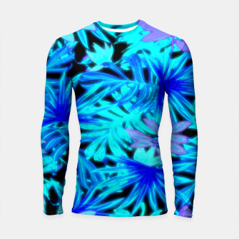 Thumbnail image of Tropical Leaves Longsleeve rashguard , Live Heroes