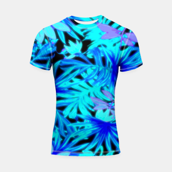 Thumbnail image of Tropical Leaves Shortsleeve rashguard, Live Heroes