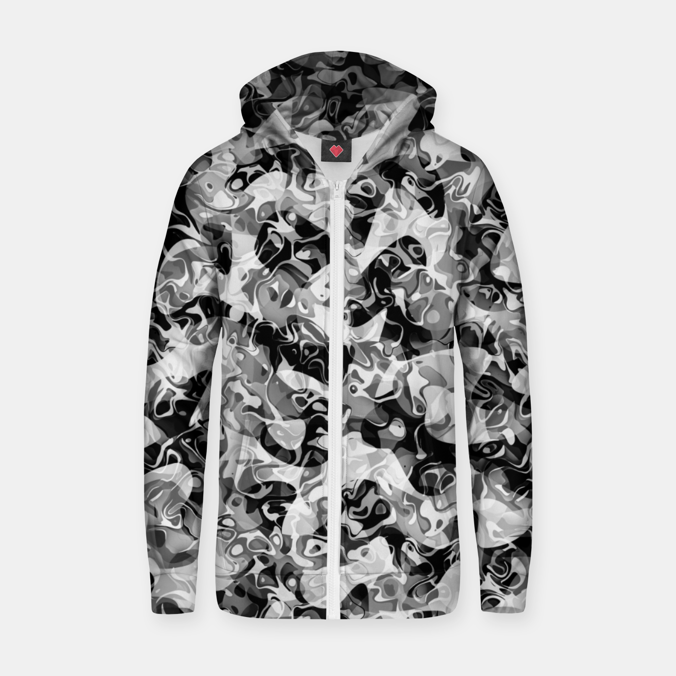Image of camo Cotton zip up hoodie - Live Heroes