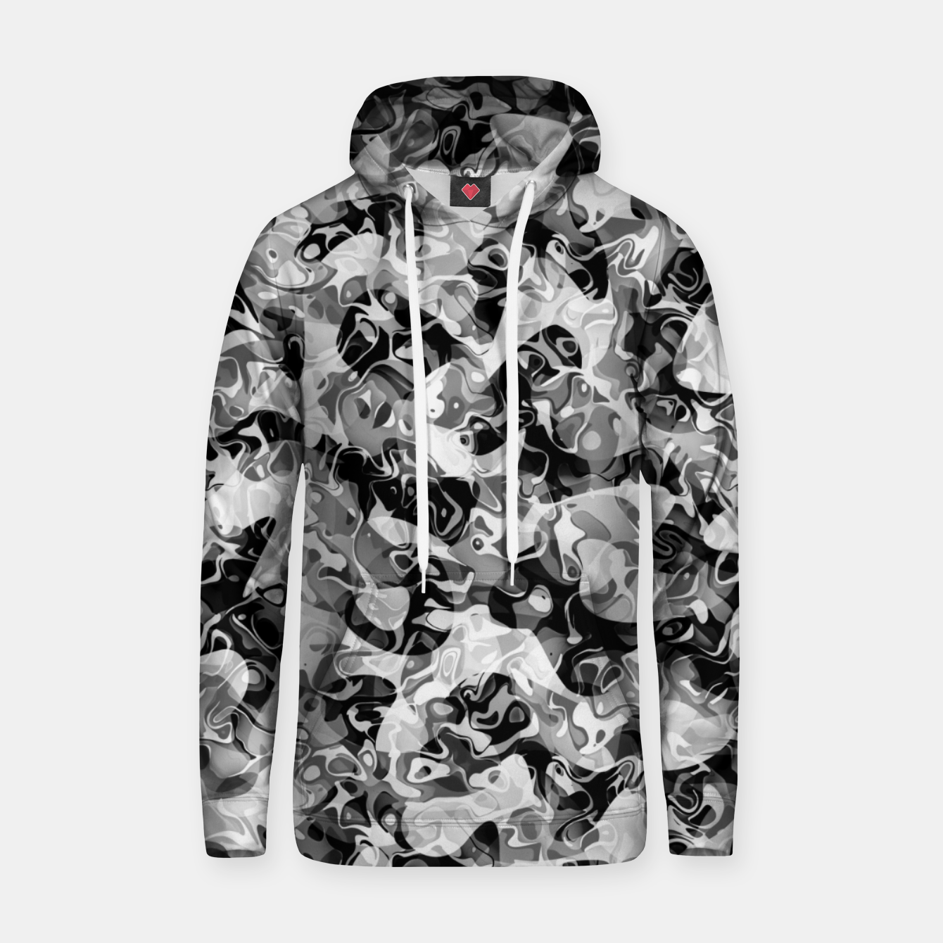 Image of camo Cotton hoodie - Live Heroes