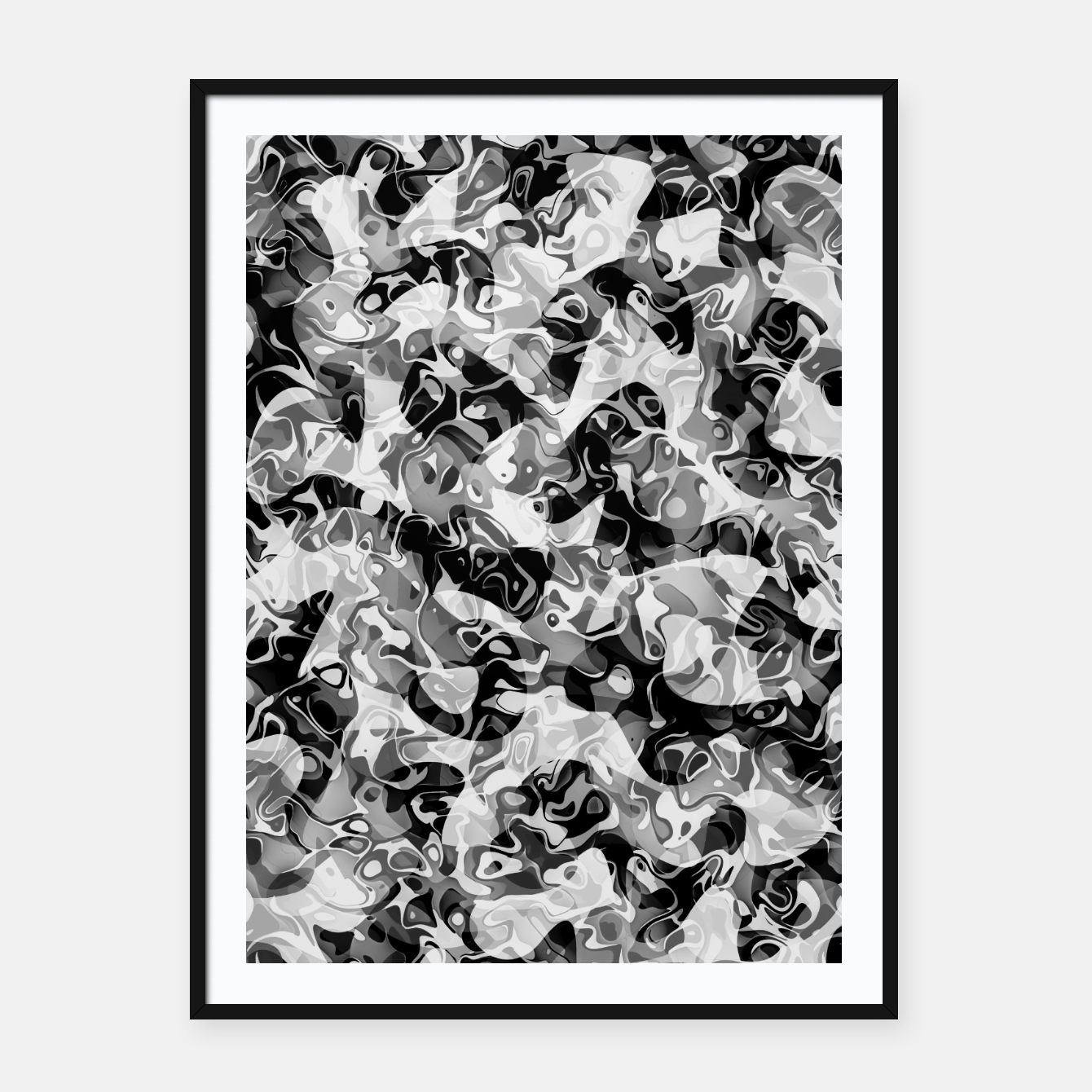 Image of camo Framed poster - Live Heroes