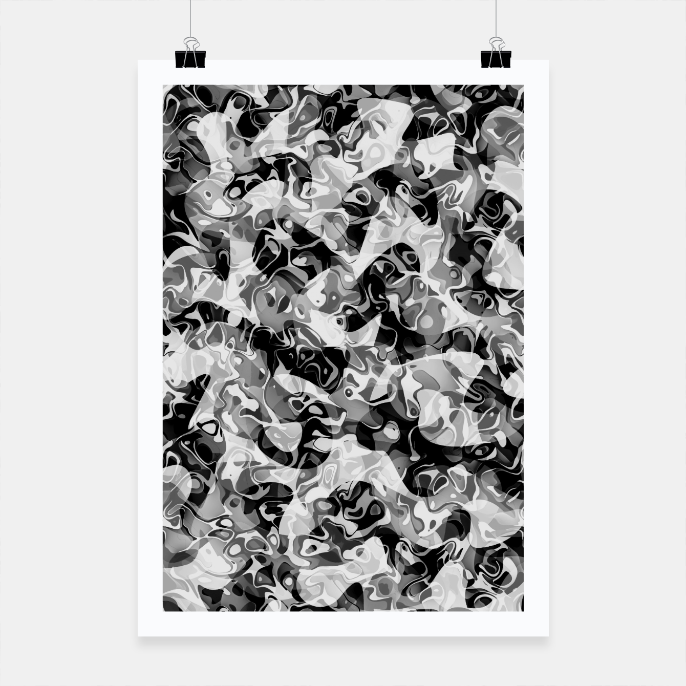 Image of camo Poster - Live Heroes