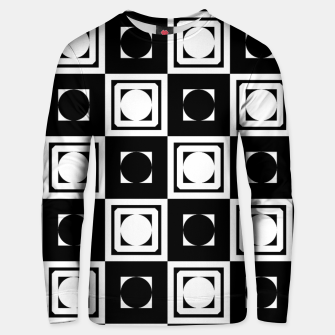 Thumbnail image of Black White Hollow Out Squares Cotton sweater, Live Heroes
