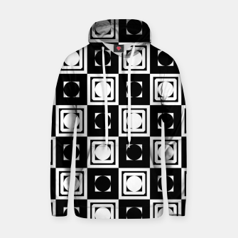 Thumbnail image of Black White Hollow Out Squares Cotton hoodie, Live Heroes