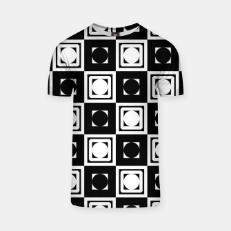 Thumbnail image of Black White Hollow Out Squares T-shirt, Live Heroes
