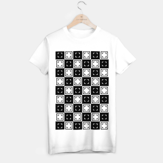 Thumbnail image of Black White Hollow Out Squares T-shirt regular, Live Heroes