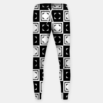 Thumbnail image of Black White Hollow Out Squares Cotton sweatpants, Live Heroes