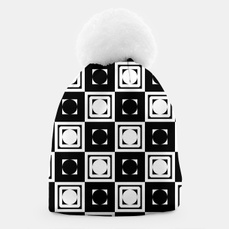 Thumbnail image of Black White Hollow Out Squares Beanie, Live Heroes