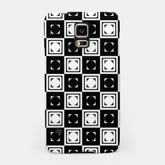 Thumbnail image of Black White Hollow Out Squares Samsung Case, Live Heroes