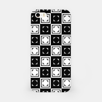 Thumbnail image of Black White Hollow Out Squares iPhone Case, Live Heroes
