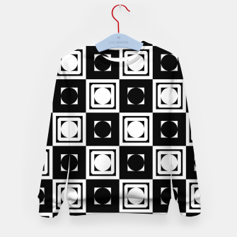 Thumbnail image of Black White Hollow Out Squares Kid's sweater, Live Heroes