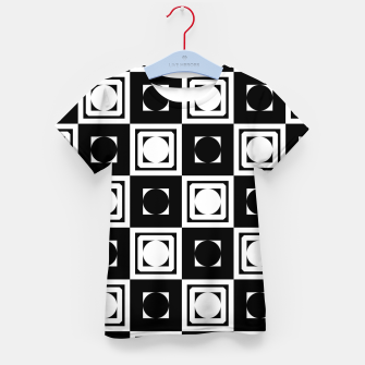 Thumbnail image of Black White Hollow Out Squares Kid's t-shirt, Live Heroes