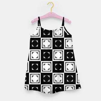 Thumbnail image of Black White Hollow Out Squares Girl's dress, Live Heroes