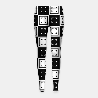 Thumbnail image of Black White Hollow Out Squares Girl's leggings, Live Heroes