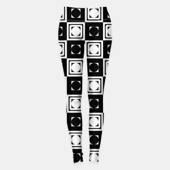 Thumbnail image of Black White Hollow Out Squares Leggings, Live Heroes