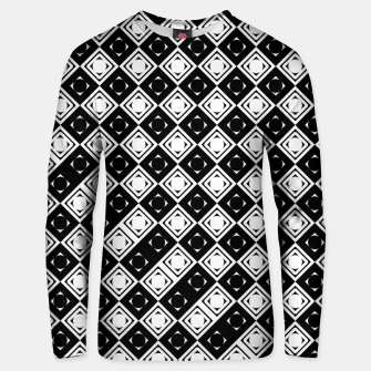 Thumbnail image of AFF4040315 Black White Hollow Out Squares Cotton sweater, Live Heroes