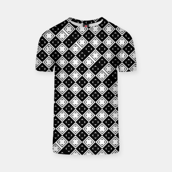 Thumbnail image of AFF4040315 Black White Hollow Out Squares T-shirt, Live Heroes