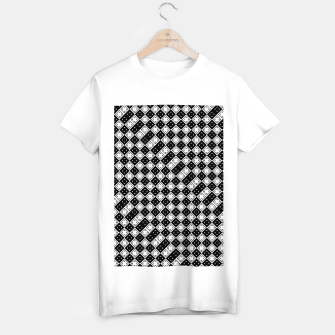 Thumbnail image of AFF4040315 Black White Hollow Out Squares T-shirt regular, Live Heroes