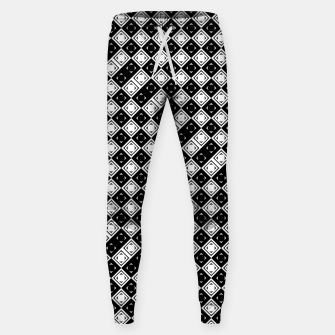 Thumbnail image of AFF4040315 Black White Hollow Out Squares Cotton sweatpants, Live Heroes
