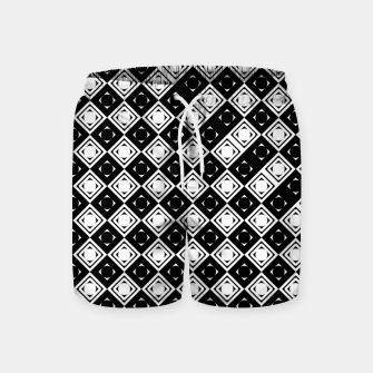Thumbnail image of AFF4040315 Black White Hollow Out Squares Swim Shorts, Live Heroes