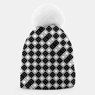 Thumbnail image of AFF4040315 Black White Hollow Out Squares Beanie, Live Heroes