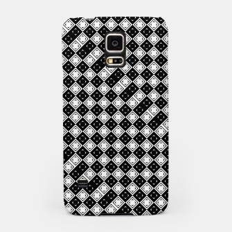 Thumbnail image of AFF4040315 Black White Hollow Out Squares Samsung Case, Live Heroes