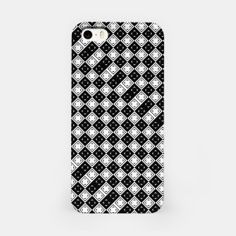 Thumbnail image of AFF4040315 Black White Hollow Out Squares iPhone Case, Live Heroes