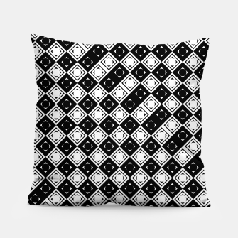 Thumbnail image of AFF4040315 Black White Hollow Out Squares Pillow, Live Heroes