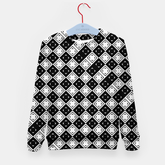 Thumbnail image of AFF4040315 Black White Hollow Out Squares Kid's sweater, Live Heroes