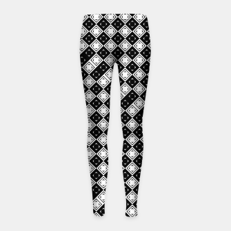 Thumbnail image of AFF4040315 Black White Hollow Out Squares Girl's leggings, Live Heroes