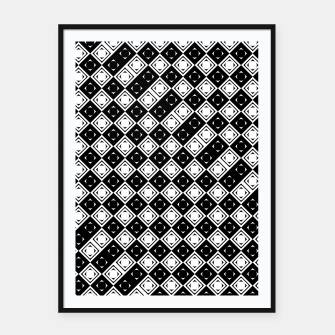 Thumbnail image of AFF4040315 Black White Hollow Out Squares Framed poster, Live Heroes