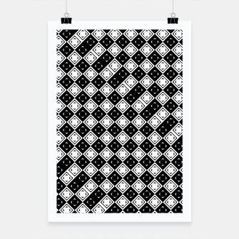Thumbnail image of AFF4040315 Black White Hollow Out Squares Poster, Live Heroes
