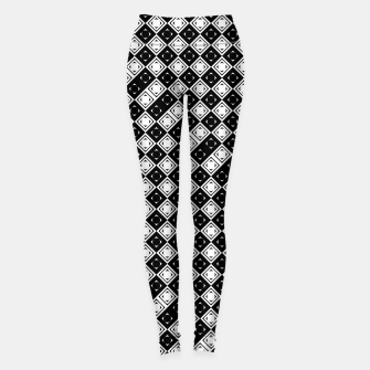 Thumbnail image of AFF4040315 Black White Hollow Out Squares Leggings, Live Heroes
