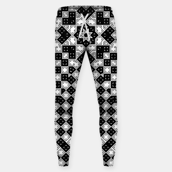 Thumbnail image of AFF4040315 M8I135O225 BWSquares Cotton sweatpants, Live Heroes