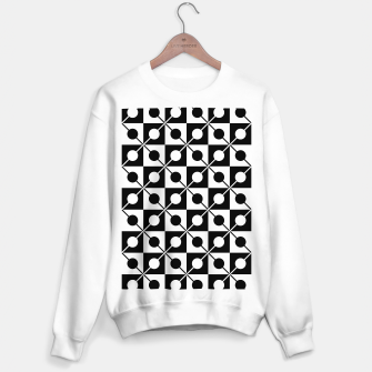Black White Squares, Circles & Lines Sweater regular obraz miniatury