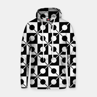 Thumbnail image of Black White Squares, Circles & Lines Cotton hoodie, Live Heroes
