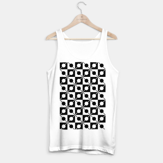Thumbnail image of Black White Squares, Circles & Lines Tank Top regular, Live Heroes
