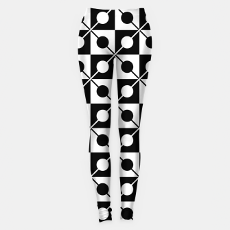Thumbnail image of Black White Squares, Circles & Lines Leggings, Live Heroes
