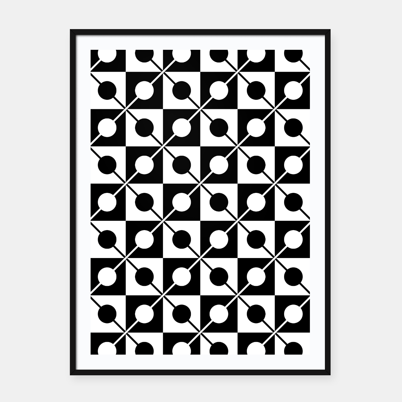Zdjęcie Black White Squares, Circles & Lines Framed poster - Live Heroes