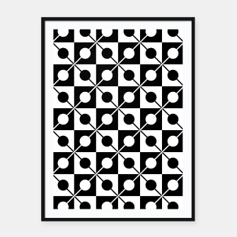 Miniaturka Black White Squares, Circles & Lines Framed poster, Live Heroes
