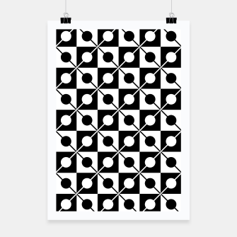 Miniaturka Black White Squares, Circles & Lines Poster, Live Heroes