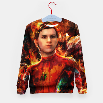Thumbnail image of spider man Kid's sweater, Live Heroes