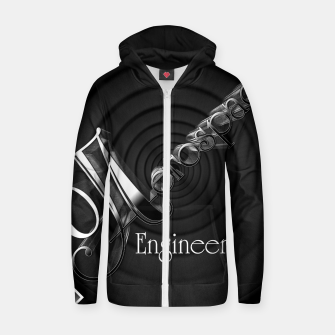 Aerospace Engineer Deco Flare Cotton zip up hoodie thumbnail image