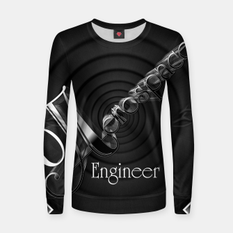 Aerospace Engineer Deco Flare Woman cotton sweater thumbnail image