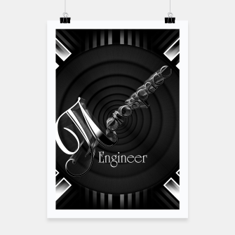 Aerospace Engineer Deco Flare Poster thumbnail image