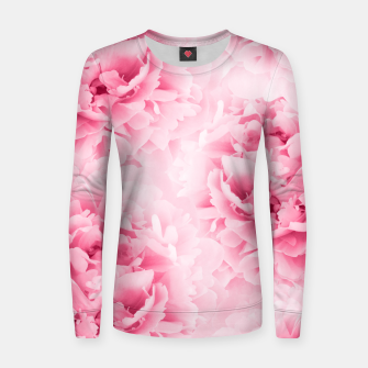 Light Red Peonies Dream #1 #floral #decor #art Frauen baumwoll sweatshirt thumbnail image